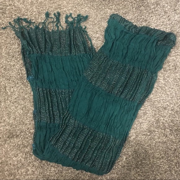 Accessories - Turquoise & Silver Scarf